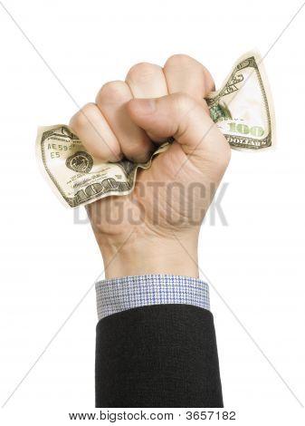 Wrinkled, Crinkled Dollar Bill