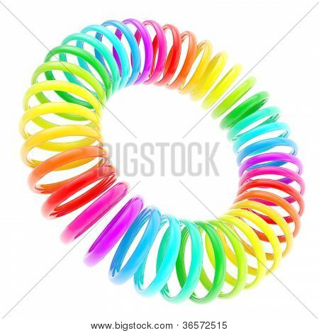 Rainbow Colored Circle Torus Composition Isolated