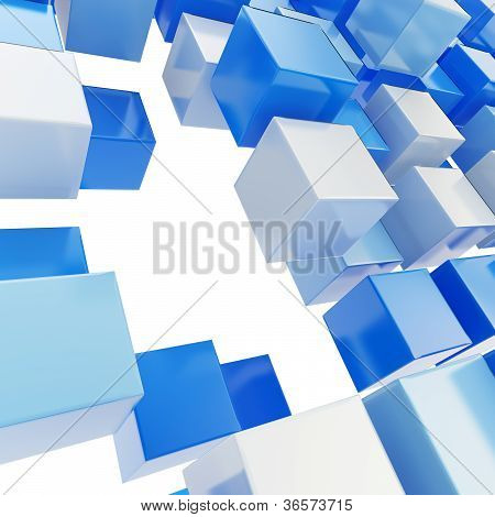 Abstract Background Made Of Glossy Cubes