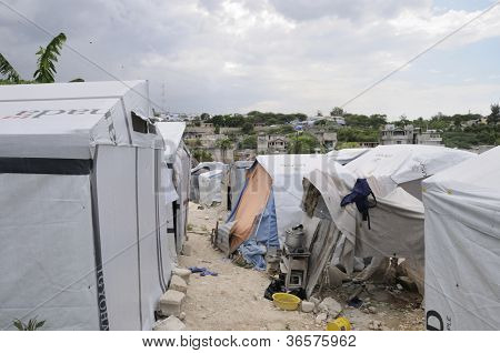 Alleyway in the tent cities.