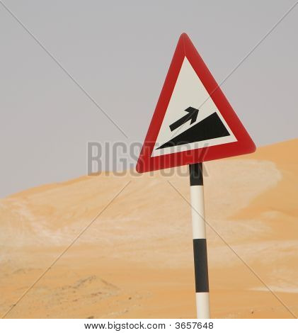 Steep Slope Warning Sign
