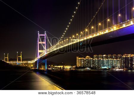 Tsing Ma Bridge at Hongkong