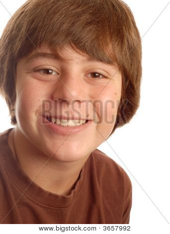 Happy Young Teen Smiling