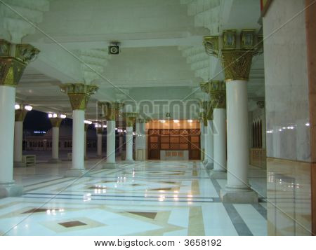 Top Floor Of The Prophet's Mosque In Madinah, Saudi Arabia