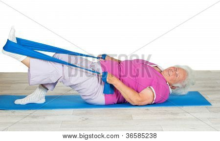 Senior Woman With Vitality Exercising