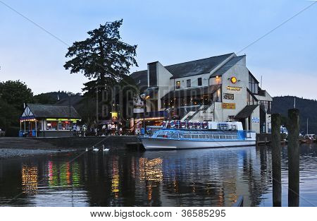 A Night Scene In Bowness-on-windermere