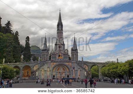 Cathedral Of Lourdes In France