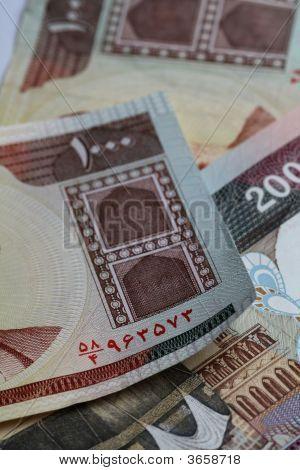 Iranian Currency Closeup