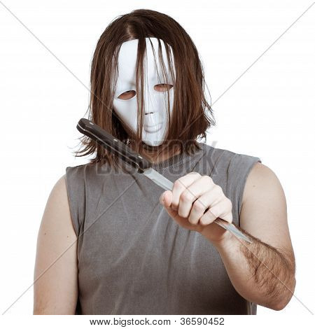Scary Man Holding Knife