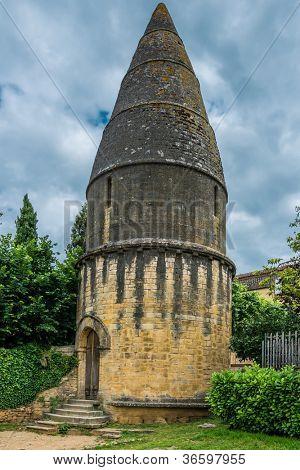 Lanterne des morts in the beautiful city of sarlat dordogne perigord France