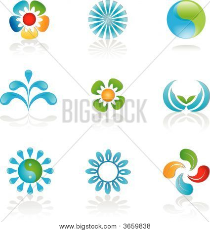 Environmental Logos And Graphic Elements