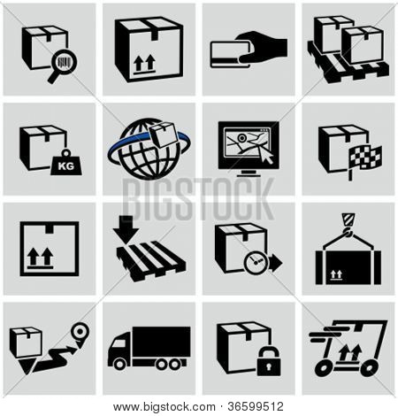 Logistics shipping icons set.