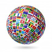 image of flags world  - Flags globe - JPG