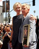 LOS ANGELES - SEP 4:  Portia DeRossi, Ellen DeGeneres at the Hollywood Walk of Fame Ceremony for Ell