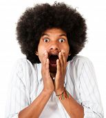 pic of unawares  - Shocked afro man  - JPG