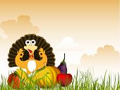 stock photo of indian apple  - Thanksgiving background - JPG