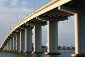 pic of skyway bridge  - clearwater bridge structure in florida gulf skyway - JPG