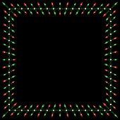 image of christmas lights  - Green red and white Christmas lights with braided cord frame - JPG