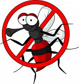 foto of gnat  - vector illustration of stop mosquito cartoon isolated - JPG