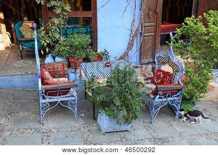 Restaurant In Chefchaouen, Morocco