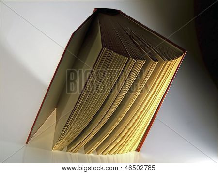 Hardback  Book Opened Vertically