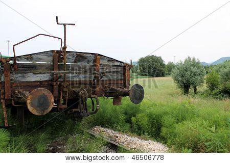 Old Train Wagon