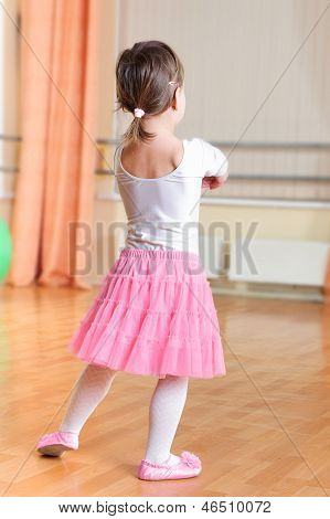 Ballet Dancer At Training Class