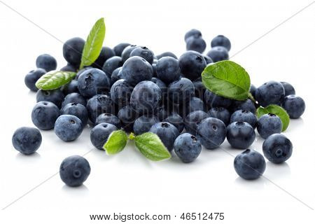 Blueberry antioxidant superfood isolated on white