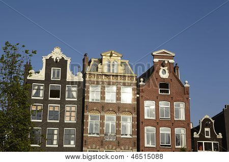 Amsterdam, Netherlands - Gable Of Old Houses