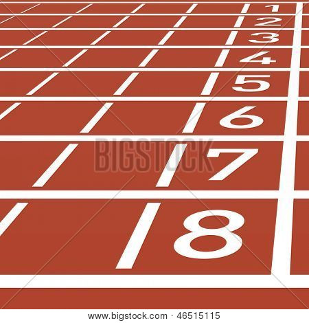 Track lane numbers. Vector.