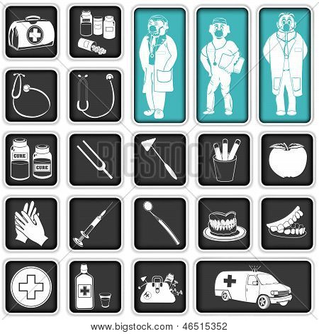 Doctor Squared Icons