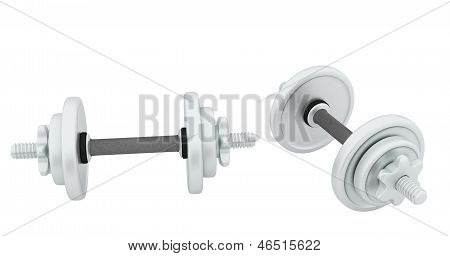 Two Metal Dumbbell