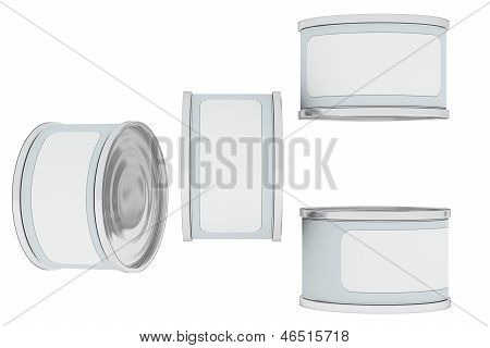 Tin Can With Place For Textl, Various View