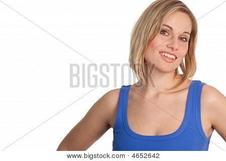 Attractive Casual Woman Smiling
