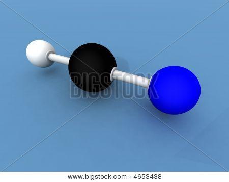 Hydrogen Cyanide Molecule