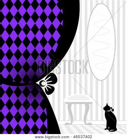 background fantasy black cat