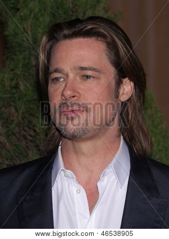LOS ANGELES - FEB 6:  BRAD PITT arrives to the 2012 Academy Awards Nominee Luncheon  on Feb 6, 2012 in Beverly Hills, CA