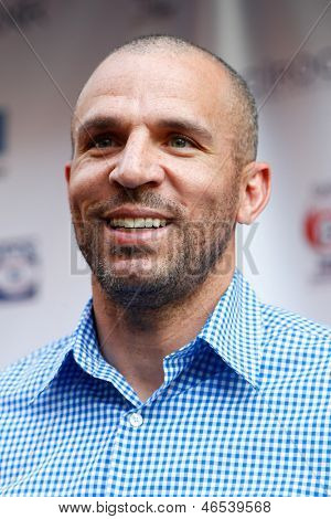NEW YORK-MAY 30: New York Knicks player Jason Kidd attends the 5th annual Tuck's Celebrity Billiards Tournament at Slate NYC on May 30, 2013 in New York City.