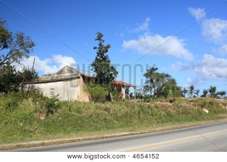 Old House Near A Highway