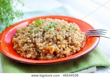 Risotto With Watercress Salad