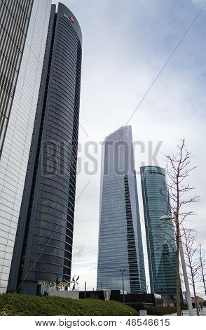 Cuatro Torres Business Area (ctba) Building Skyscrapers, In Madrid, Spain