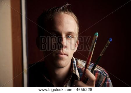 Handsome Young Artist