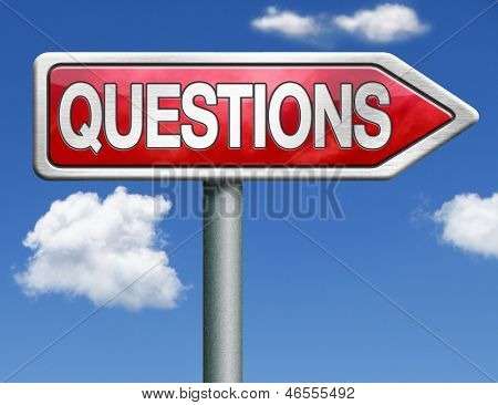 questions and solutions need serious answers helps or support desk information answer question red road sign arrow with text and word concept