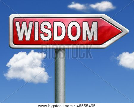 wisdom education and knowledge online learning wisdom icon wisdom button red road sign arrow with text and word concept