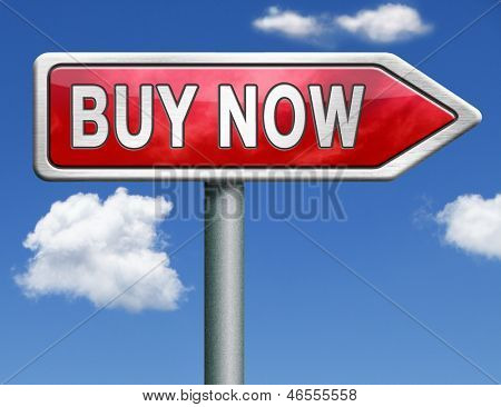 buy now and here road sign online sales sell on internet webshop online web shop buy icon shopping webpage button