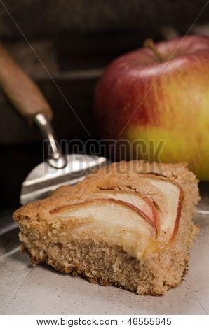 Piece Of Homemade Vegan Apple Pie