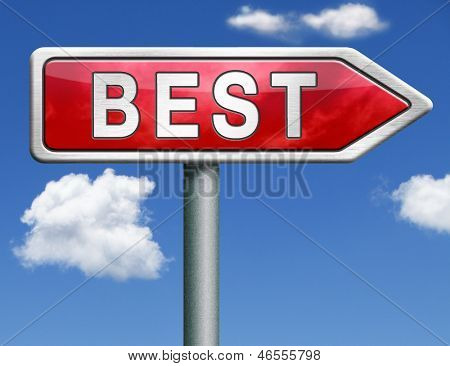 best price bargain sales or quality label best icon best button red road sign arrow with text and word concept