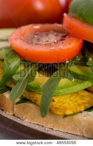 Fresh Tofu Veggie Sandwich