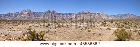 Red Rock Canyon Panorama Nevada.