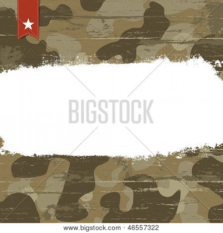 Camouflage background with space for text. Raster version, vector file available in my portfolio.